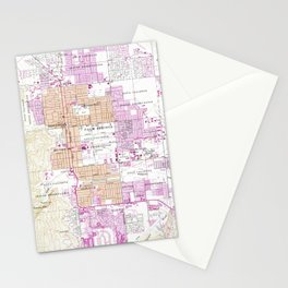 Vintage Map of Palm Springs California (1957) Stationery Cards