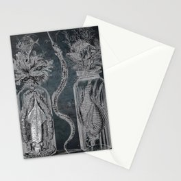 Victorian Zoological Study, Ocean life Specimens - Vintage Art Collage Stationery Cards