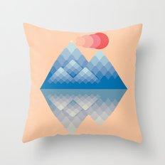 Minimalistic Mountain Throw Pillow