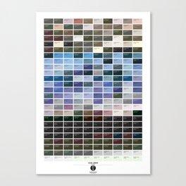PANTONE glossary - Iceland - Blue Lagoon Canvas Print