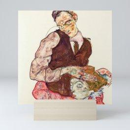 "Egon Schiele ""Lovers"" Mini Art Print"