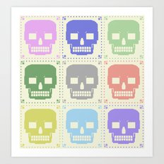 quilt of grrr (born to die). Art Print