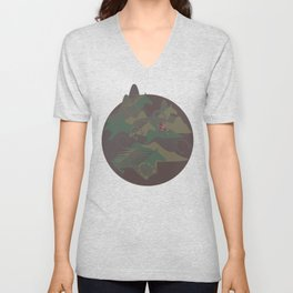 Camouflage Year of Horse Unisex V-Neck