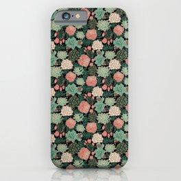succulent and rose iPhone Case
