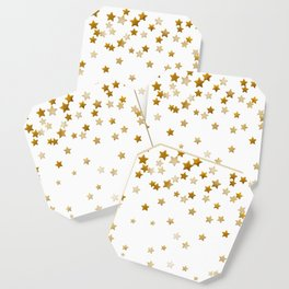 Falling Stars - Gold Marble Coaster