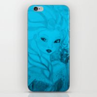 frozen elsa iPhone & iPod Skins featuring Frozen Elsa by ALynnArts