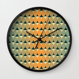 Retro ellipses Wall Clock