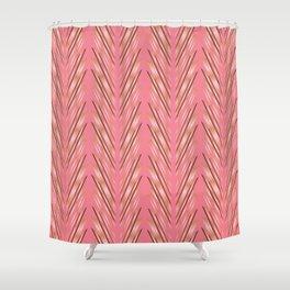 Wheat Grass Pink Shower Curtain