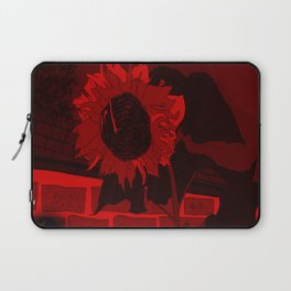 Thee Sunflower in Red by Mgyver Laptop Sleeve