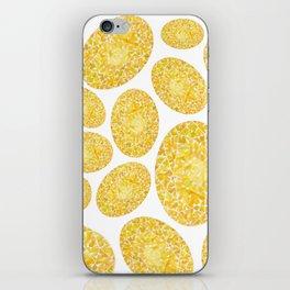 Yellow Oval Gem Pattern iPhone Skin