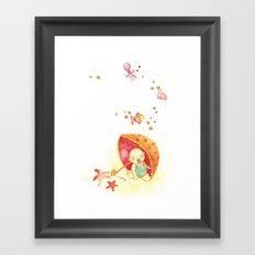 Baby beach Framed Art Print