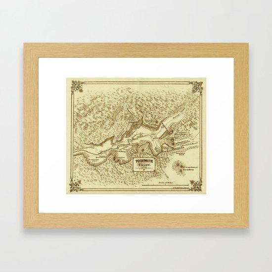Vintage Yosemite Map 1870 by lydiadavid