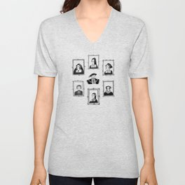 Henry VIII and his wives Unisex V-Neck