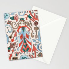 Queen of Diamonds Stationery Cards