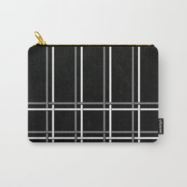 Pinstripes on Scratched Grunge Illustration - Digital Artwork Carry-All Pouch