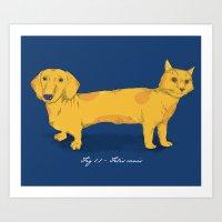 Felis canis Art Print