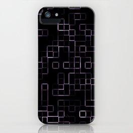 Pink neon mosaic technology pattern iPhone Case