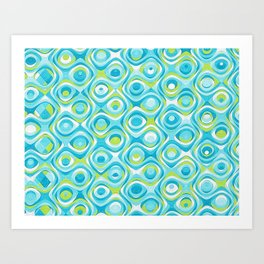 Elegant Abstract in Teal and Green Art Print