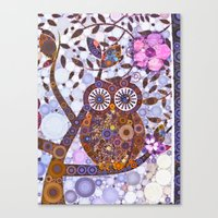discount Canvas Prints featuring If Klimt Painted An Owl :) Owls are darling birds! by Love2Snap