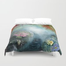 Spring paradise painting Duvet Cover