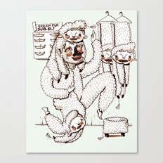 Sheep Obsession Canvas Print