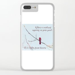 Visitor from Heaven Clear iPhone Case