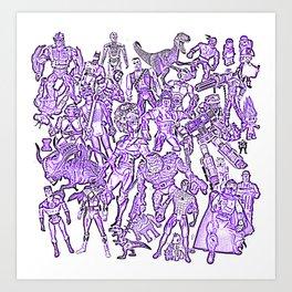 retro kids toys 90s cult Art Print