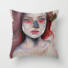 Where There Are Butterflies  Throw Pillow