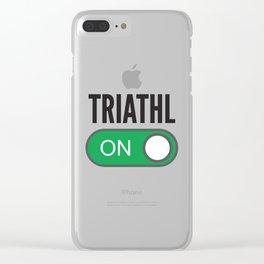 Triathlon Clear iPhone Case