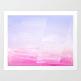 Marble sky dimension II Art Print