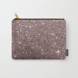 Modern mauve burgundy rose gold glitter Carry-All Pouch