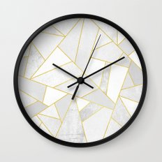 White Stone Wall Clock