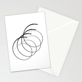 """"""" Eclipse Collection"""" - Minimal Number Six Print Stationery Cards"""