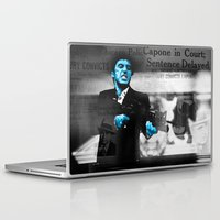 scarface Laptop & iPad Skins featuring Tony Montana Scarface by Maxim Garg
