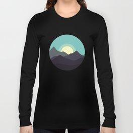 Minimal Mountain Night Long Sleeve T-shirt