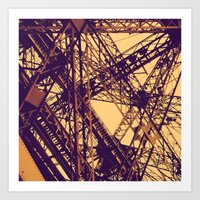 eiffel Art Prints featuring Eiffel by adrianperive