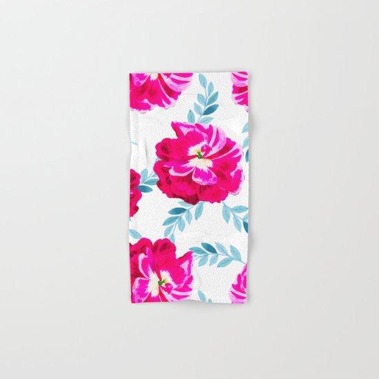 Fluorescent Florals #society6 #decor #buyart Hand & Bath Towel