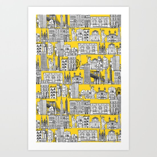 New York yellow Art Print
