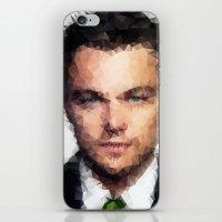leonardo dicaprio iPhone & iPod Skins featuring Leonardo DiCaprio by lauramaahs