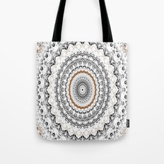 Black, Gold, and White Tote Bag