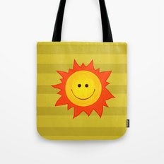 Smiling Happy Sun Tote Bag