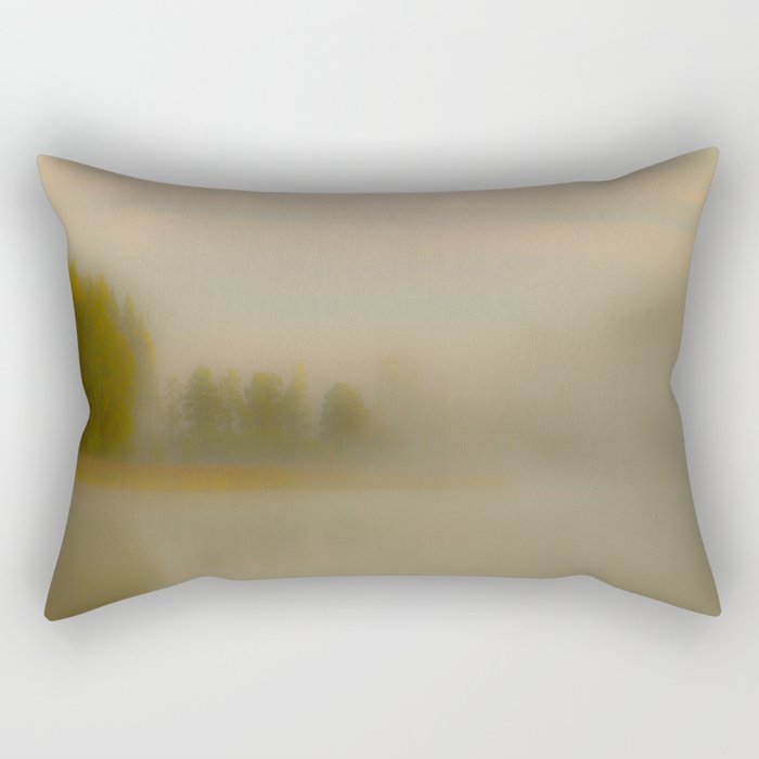 Misty Autumn Morning #decor #buyart #society6 Rectangular Pillow