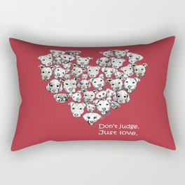 Just Love. (white text) Rectangular Pillow