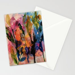 evening garden Stationery Cards