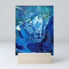 Environmental Blue Leaves, Tiny World Collection Mini Art Print