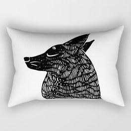 silent treatment Rectangular Pillow