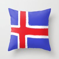 iceland Throw Pillows featuring Iceland by Katja_Gerasimova