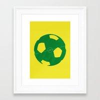 soccer Framed Art Prints featuring Soccer by AJAN