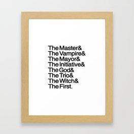 The Big Bads Framed Art Print