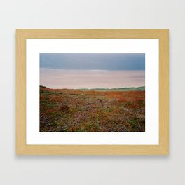 View from cliffs above Rhossili Bay, Wales Framed Art Print
